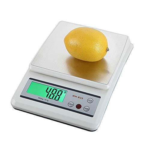 CHICTI Acero Inoxidable Balanzas electrónicas, Alta precisión Escala de Alimentos, Cocina Escala para Hornear Pequeño (Size : 10kg/1g)