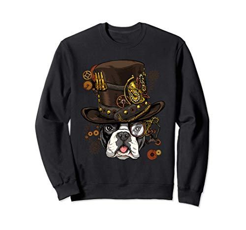 Steampunk French Bulldog Dog Steampunk French Bulldog Lovers Sweatshirt
