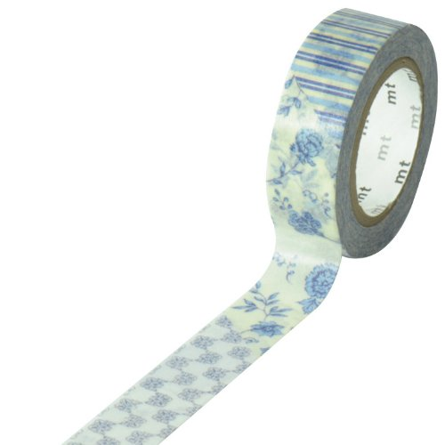 Masking tape - 15mm * 10m - Flower dark blue