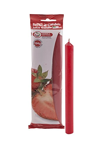 Cereria de Giorgio - Concentrado de Vela con Aroma a Frutas, Cera, Rojo Fresa, 1,9x 1,9x 20cm, 3Unidades