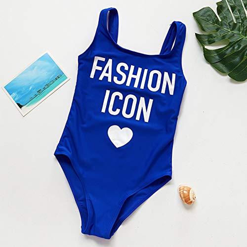 ERYG Baby Girls Swimwear One Piece Swimsuits, Backless Colorful Beach Swimwear, Children's Swimsuit 9-10Y Blue