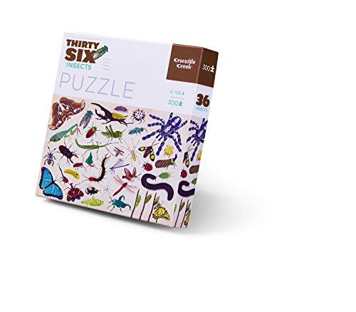Crocodile Creek Thirty-Six Insects-Puzzle de 300 Piezas en Bote (4068-4) (Juguete)
