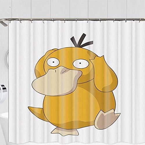 DJxqJ Duschvorhang 3D gelbeKarikatur boshafte Minions Serie Badezimmer Duschvorhang Badvorhang Polyester wasserdichter Badezimmervorhang