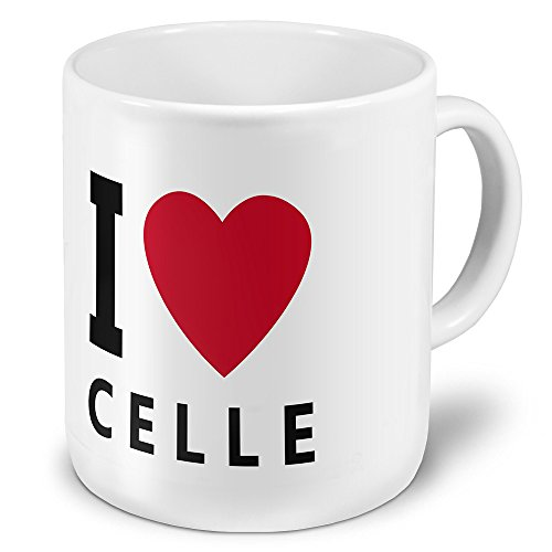 """XXL Jumbo-Städtetasse Celle - XXL Jumbotasse mit Design """"I Love Celle"""" - Städte-Tasse, Städte-Krug, Becher, Mug"""
