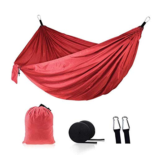 NOBRAND Double Camping Portable Lightweight Nylon Colorful Parachute Hammock