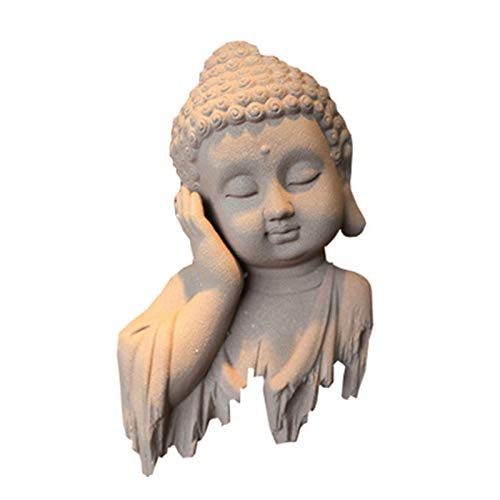 ZXCVB Meditating Zen Buddha Statue, Lucky Buddha Sitting Sculpture Decoration, Home and Outdoor Decor for Garden Patio Deck Porch
