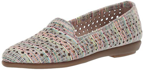 Aerosoles - Women's You Betcha Slip-on Loafer - Casual Comfort Style Flat with Memory Foam Footbed (7.5M - Multi Stripe)