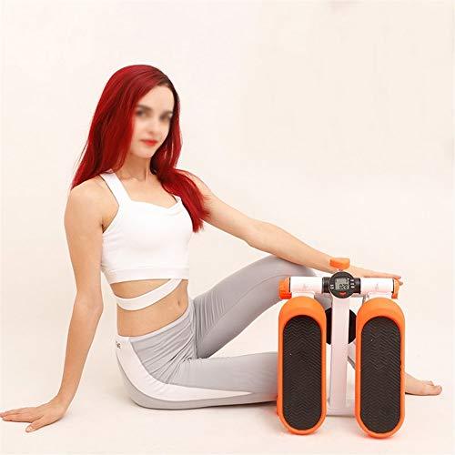 FGDD Stepper Up-Down Body Sculpture Máquina de Step for Fitness, Verde/Naranja (Color : Orange)