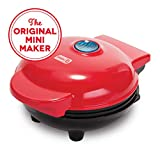 Dash DMS001RD Mini Maker Electric Round Griddle for Individual Pancakes, Cookies, Eggs & other on...
