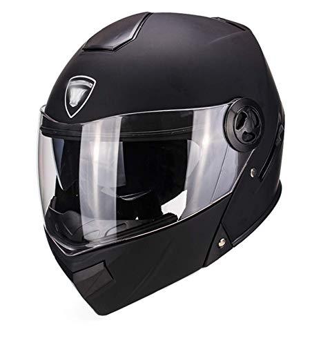 Casco de motocicleta eléctrica casco de doble espejo aprobado por DOT ECE-YEMA YM-925 Casco de moto de cara completa A,57-59CM
