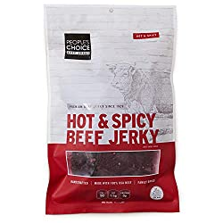 people's choice big slab hot & spicy beef jerky
