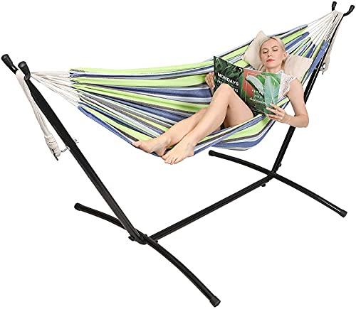 Kanchimi Hammock with Stand,Max Load 450lbs,Portable Double Hammock for para Patio,Indoor Outdoor...