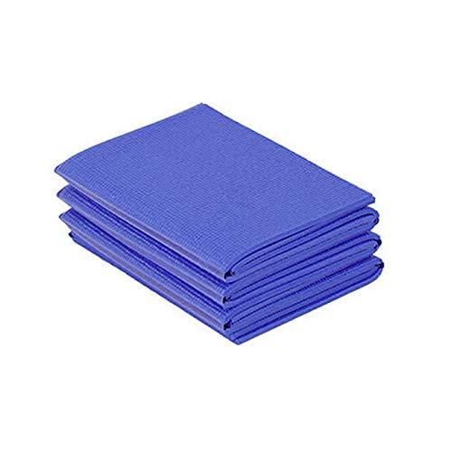 Tabanlly Esterilla de yoga plegable de PVC antideslizante gruesa para pilates plegable y portátil de viaje para culturismo, fitness