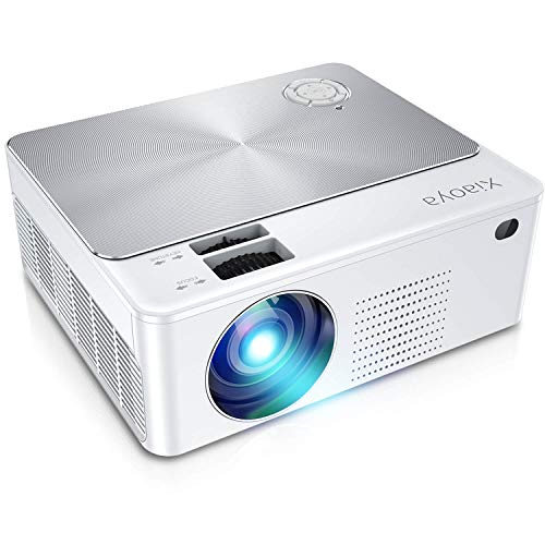 XIAOYA Portable Mini Projector, HD 1080P Supported Home Theater Projector for Home, Office and Ourdoor, 3600 Lumens Bright Led Projector Compatible with TV Stick/HDMI/VGA/USB/TV Box/Laptop/PS4-White