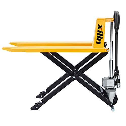 "Xilin Manual Pallet Jack High Lift Hand Pallet Truck 2200lbs Capacity 3.3' Lowered 45'Lx21""W 31.5 Lift Height JF-520"