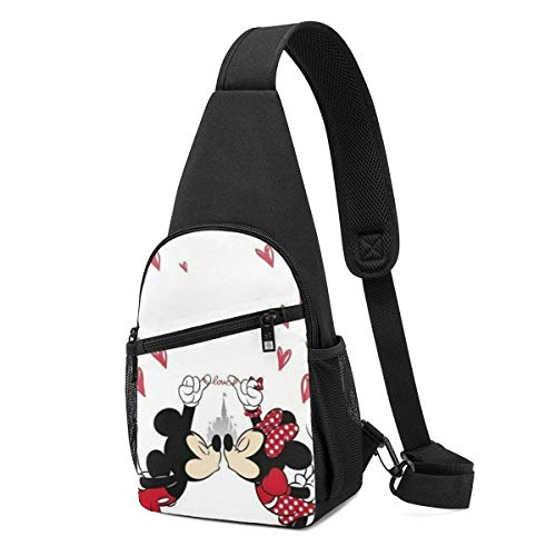Boweike Sling Backpack Casual Loved Mickey Minnie Crossbody Daypack Shoulder Bag Chest Bag Rucksack
