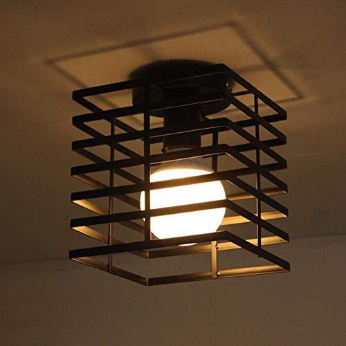 XSYL industriële hanglamp, E27 fitting, peer niet, vintage plafondlamp voor woonkamer, eetkamer, keuken, restaurant, zwart metaal retro kroonluchter IP20