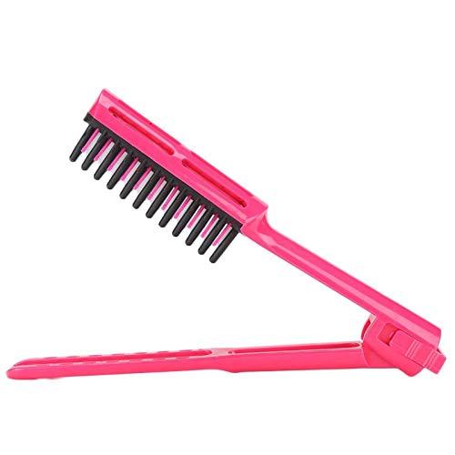 Cepillo para el cabello recto, en forma de V, sin enredos, cepillo desenredante para el cabello, alisado rápido, herramienta de peinado DIY para cabello largo(Hair Styling Brush)