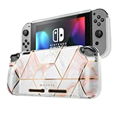 [Joycon Removable] This grip case allows you to easily take out joycon controllers without removing the whole case [Easy to Put on and Take off] Easy to put on and take off whenever you want to dock the Switch [Full Protection] Made with shock-absorb...