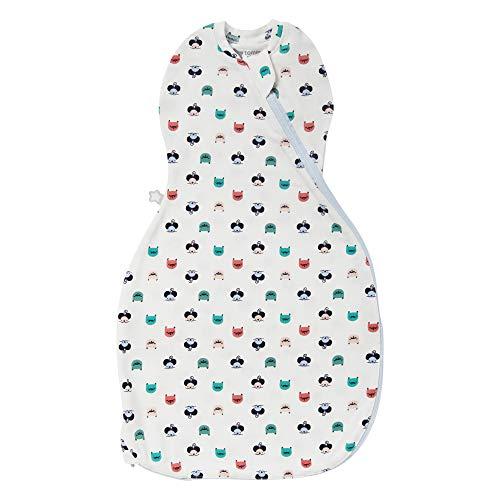 Tommee Tippee Saco de dormir para bebé, The Original Grobag Easy Swaddle, tela suave rica en algodón, 0-3m, gato y ratón