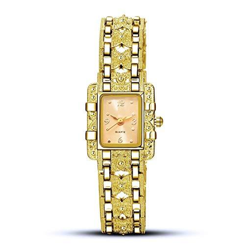 GuGio Women Fashion Luxury Rhinestone Chain Square Wrist Watch Dial Bracelet