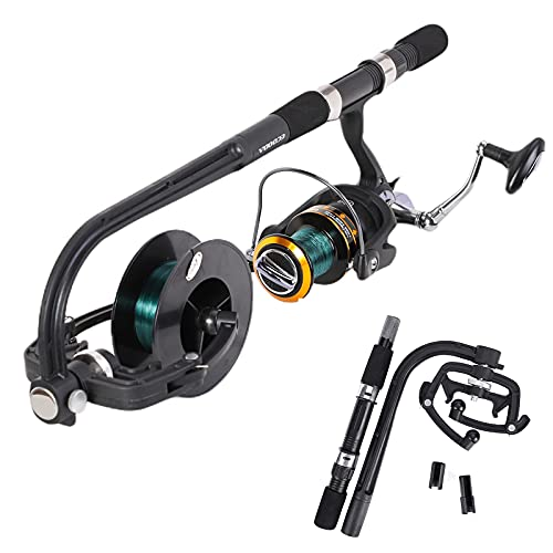 Daxin Fishing Line Winder,2021 New Portable Spooler Machine Spinning Reel Line Winder Spooler Machine Reel System Spinning Line Reel Fishing Line Spooler
