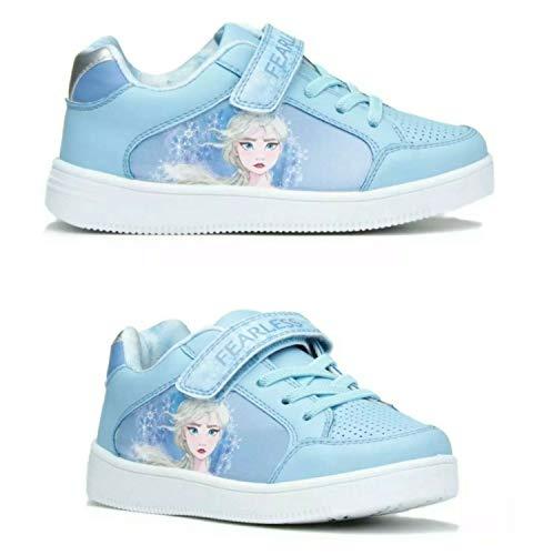 Disney Frozen II Elsa y Anna Fearless Zapatillas Deportivas para nios, Zapatillas Ligeras para nios (Azul Frozen/Elsa, Numeric_31)