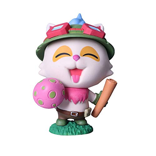 League of Legends Teemo Hand Made Toys LOL Thyme Doll Puppet Cosplay Hat Action Figure H-2020-11-8 (Color : Pink)