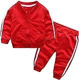 Eastery Ensembles De Vêtements pour Bébé Bébé 2Pcs Garçon Fille Pantalon Simple Style De Monochrome Mante Et Vêtements pour Enfants Mode Confortable De Base Mis Mignon Vêtements pour Enfants