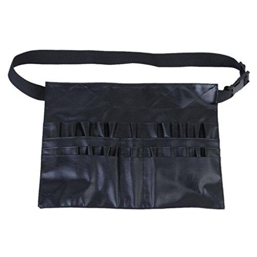 SODIAL (R) cepillo profesional del maquillaje cosmetico del bolso Kit de herramientas de cuero sintetico paquete de la cintura de la bolsa