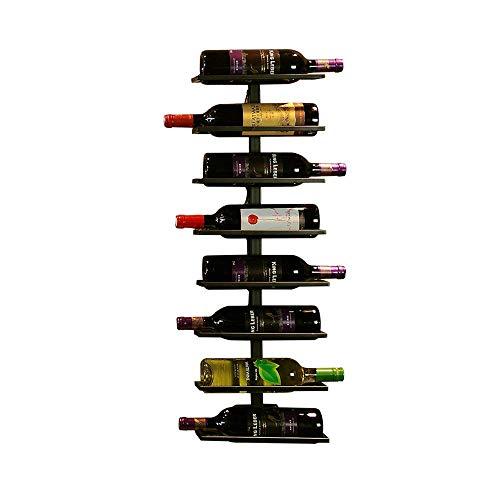 Pkfinrd Estante de vino montado en la pared, decoración del hogar y la cocina, estante de almacenamiento de hierro pesado, diseño de fácil instalación   soporte para botellas