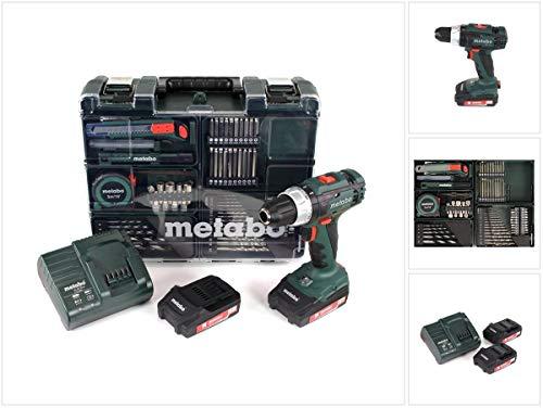 Metabo 602317870 BS 18 L Bohrschrauber-SET 2 x 2,0 AH Akku, 18 V, Et00, 200 W