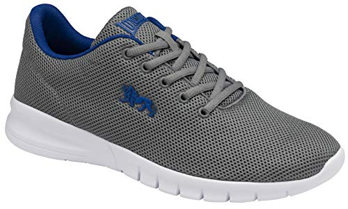 Lonsdale Bedford, Scarpe per Jogging su Strada Uomo, Grigio Reflex Blu, 45.5 EU