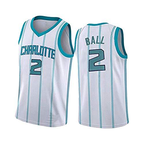 Balón #2 Camiseta de baloncesto sin mangas de malla, transpirable de secado rápido, chaleco deportivo al aire libre, ropa de entrenamiento de ocio blanca-S