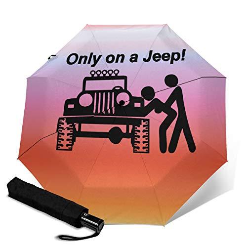 Regenschirm, Winddicht, Reise-Regenschirm, automatisches Öffnen/Schließen, kompakt, faltbar Blau Nur auf einem Je-ep Einheitsgröße