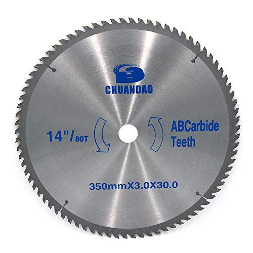 KEKEYANG 110 mm -400 mm de carburo de hojas de sierra circulares de la madera dientes de corte disco de corte de aluminio 40/60/80/100/120 Herramientas (Outer Diameters : 300mm x 30mm x 120T)