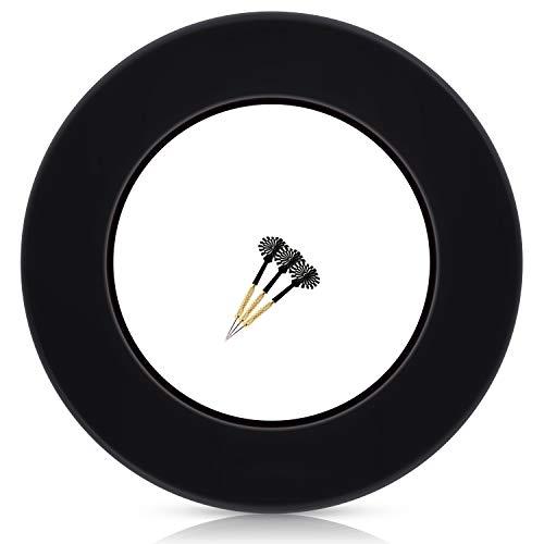 ProDarts Dart Surround für alle Marken-Dartscheiben – Dart Auffang-Ring in Schwarz – hochwertige stabile Umrandung – Wandschutz für das Dartboard ohne Zusatzbefestigung – professionelle Optik
