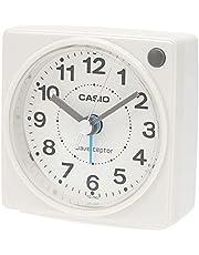 CASIO(カシオ) 目覚まし時計 電波 ホワイト アナログ ミニサイズ ライト 付き TQ-750J-7JF