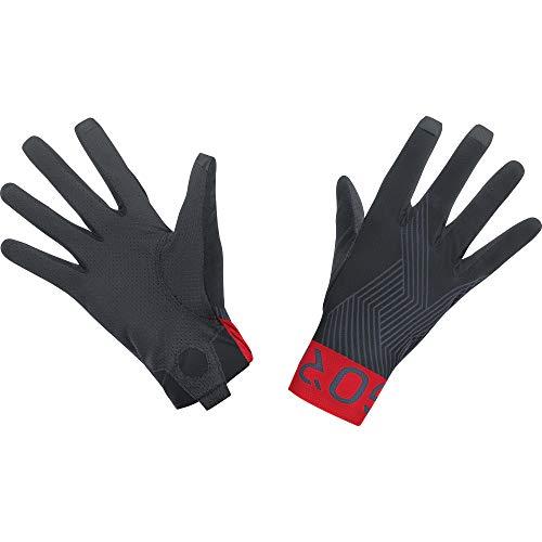 GORE WEAR C7 Unisex Pro Handschuhe, 10, Schwarz/Rot