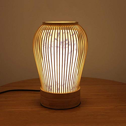 Yilingqi-1 in Chinese stijl woonkamer bamboe tafellamp, eenvoudige Japanse slaapkamer nachtlamp decoratie tafellamp 16 × 27 cm