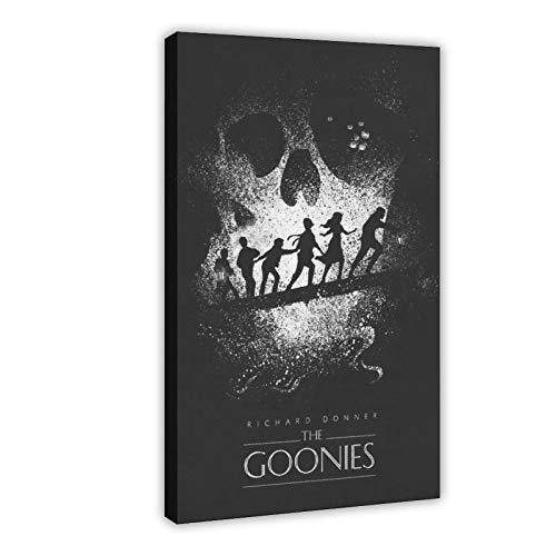 The Goonies Classic Movie Poster Leinwand Schlafzimmer Kunst Decor Print Büro Wohnheim Zimmer Decor Geschenk 50 × 75 cm Rahmen