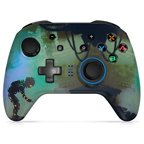 REDSTORM Wireless Controller, Controller for Switch PC Controller Support Windows 10 Dual Vibration Motors TURBO Combo Settings Green New Version