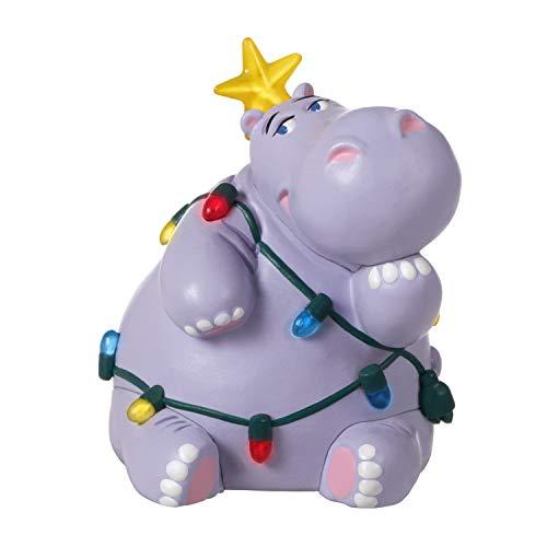 "Hallmark Keepsake Christmas Ornament 2020, Mini Holiday Hippo, Light-Up, 1.5"""