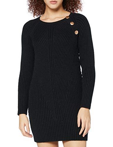 Naf Naf Mbouton Vestido, Noir, L para Mujer