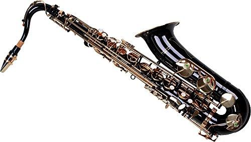 Karl Glaser Saxofón Tenor, Negro/Oro, con maletín
