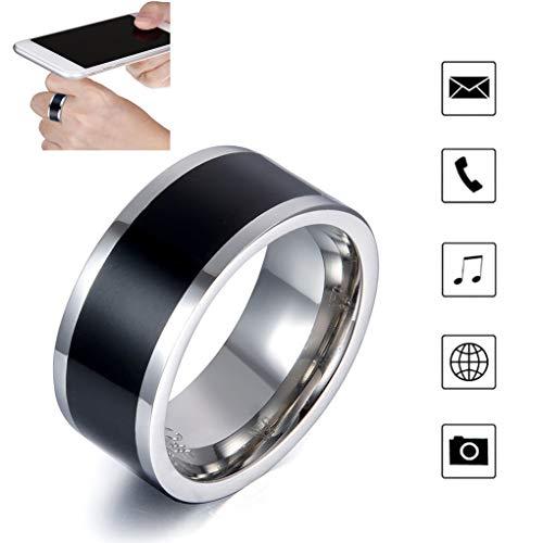 TYYW Ringe der Männer, Neue Technologie NFC multifunktionalen Smart-Zubehör wasserdichte Digital Smart-Ring Android geeignet für Huawei Telefon,10