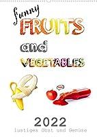 funny FRUITS and VEGETABLES - lustiges Obst und Gemuese (Wandkalender 2022 DIN A2 hoch): Obst und Gemuese zeigen sich von ihrer lustigen Seite. (Monatskalender, 14 Seiten )
