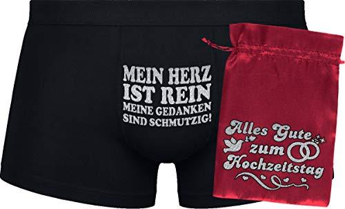 Geburtstagsgeschenk   Mein Herz ist rein, Meine Gedanken sind schmutzig!   Hochzeitstag   Black Boxershorts&red Bag