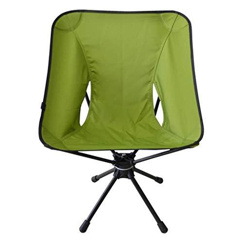 ch-AIR Chaise Haute Pliante, Chaise De Pêche, Chaise Longue Pivotante À 360 Degrés en Alliage D'aluminium Portable (Color : Green)