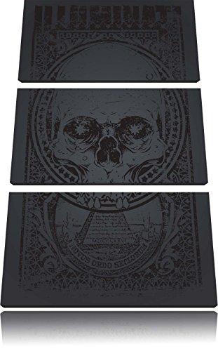 Illuminati black Bild 3-Teiler Leinwandbild 120x80 Bild auf Leinwand, XXL riesige Bilder fertig gerahmt mit Keilrahmen, Kunstdruck auf Wandbild mit Rahmen, gänstiger als Gemälde oder Ölbild, kein Poster oder Plakat